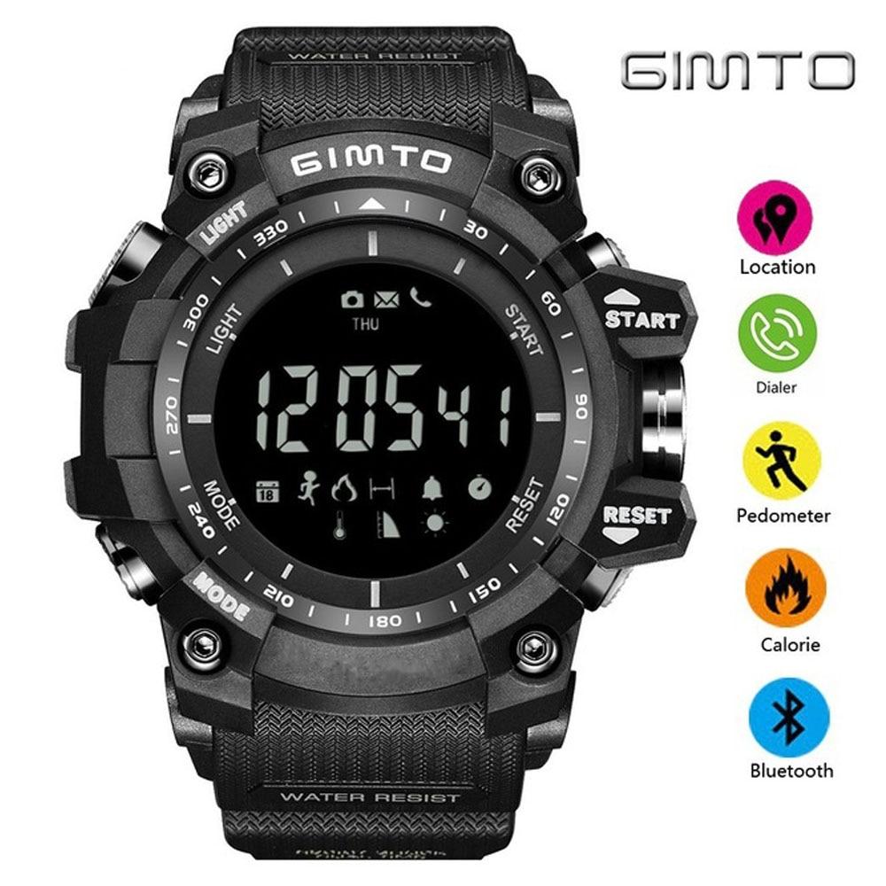 GIMTO Outdoor Sport Smart Watch Waterproof Digital Stopwatch Male Military Electronics Watch Altimeter Barometer Pedometer Clock цена и фото