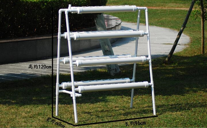 High Quality Hydroponics system NFT with 70pcs of Net Cup. Nutrient Film Technique (NFT) image