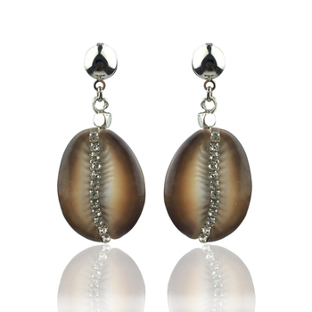 Natural Cowrie Shell Earrings For Women Bohemian Rhinestone Beach Jewelry oorbellen boucle doreille femme 2020 aretes mujer