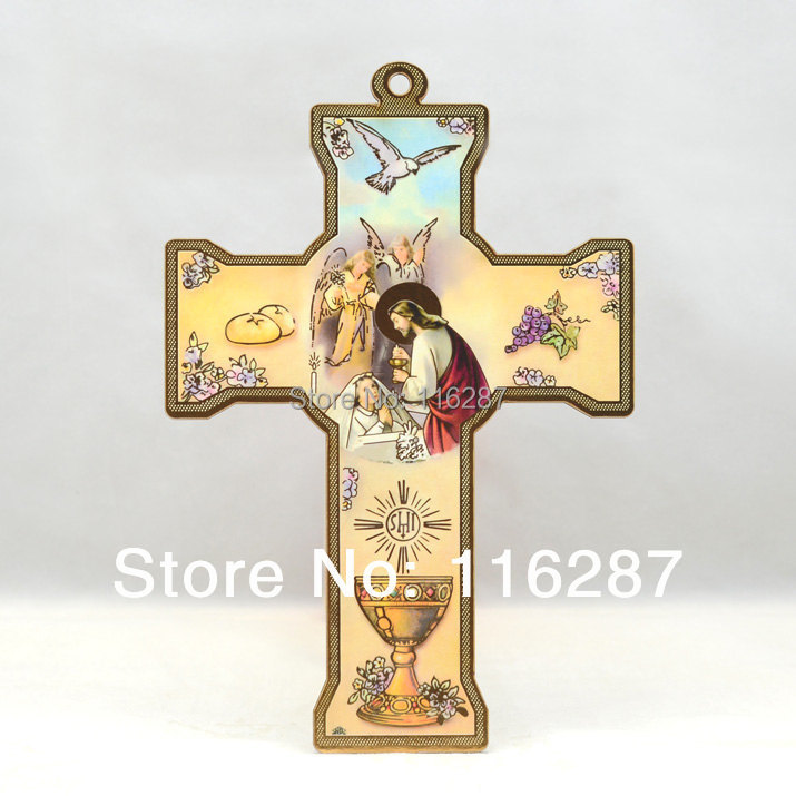 Different Catholic Wall hanging Wooden Cross Wood Mary Guadalupe Saint First Holy Communion girls boys gifts - Hosanna Religious Gifts store