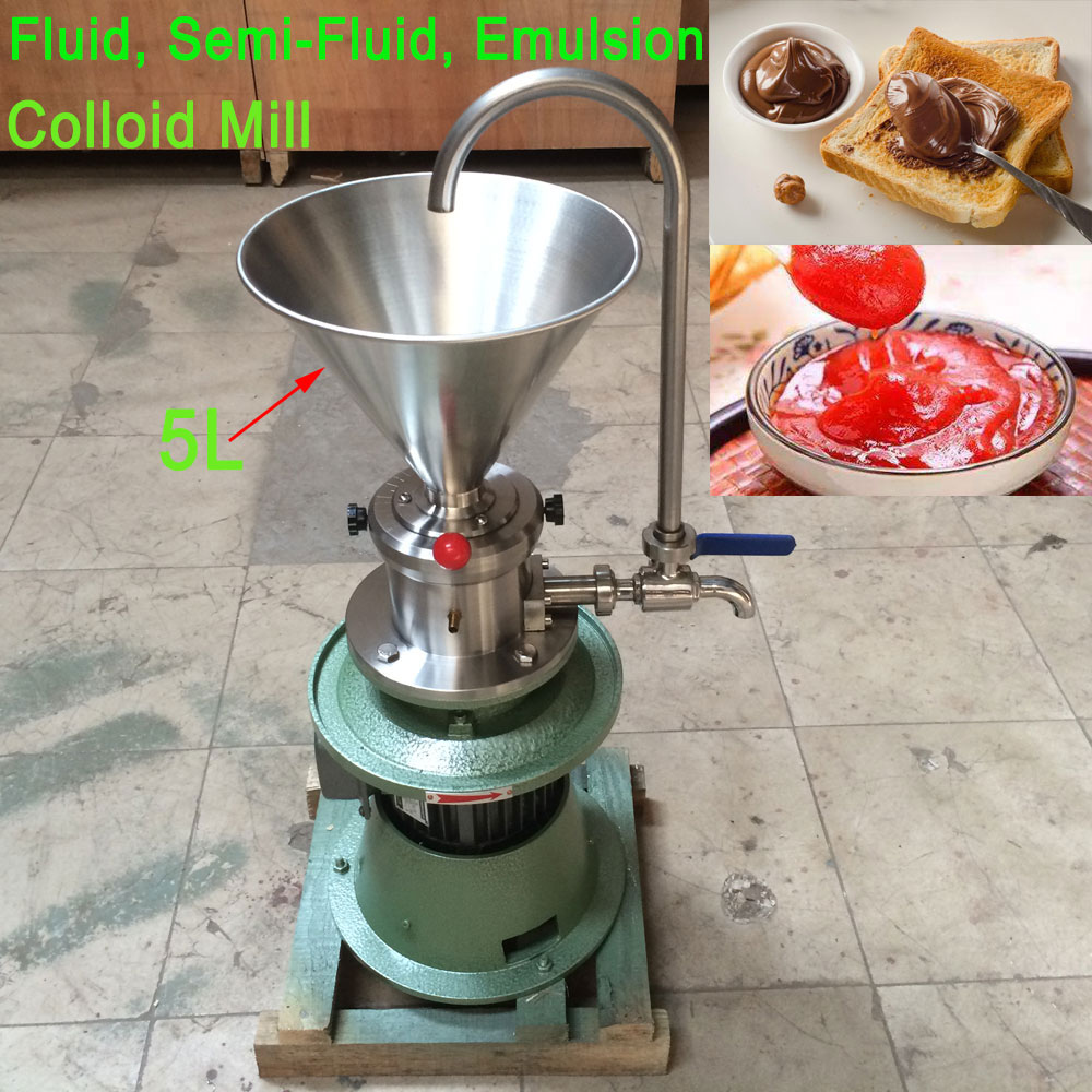 Electric Colloid Mill Crusher Peanut Butter Chocolate Daily Colloid Grinder Tahini Sauce/Soymilk Grinding Machine 110V/220V economic emulsifying colloid mill jm