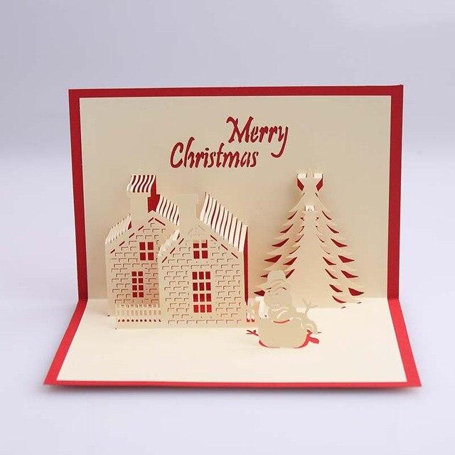 Creative 3d diy handmade christmas card winter castle 3d three creative 3d diy handmade christmas card winter castle 3d three dimensional paper sculpture greeting cards m4hsunfo
