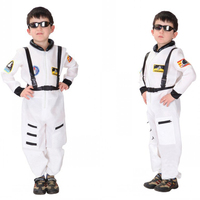 Halloween Aviation Astronaut Costume For Boys Cosplay Children Show Performance Handsome Clothing Jumpsuits Safety Harness