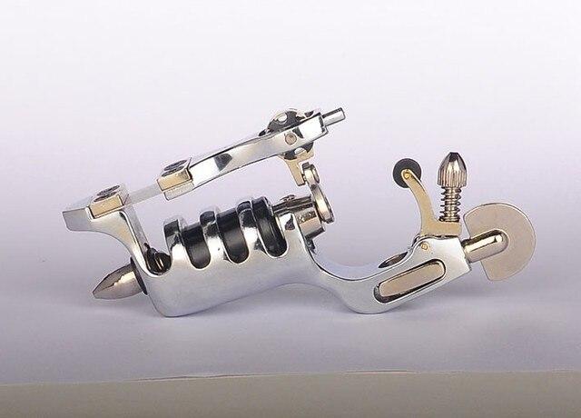 Free Shipping SUNSKIN Silver Fuselage clip cord Tattoo Machine Multifunction Liner & Shader Rotary Motor Gun CTM-573