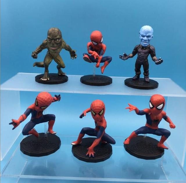 6pcs Marvel Superhero Spiderman Figurine