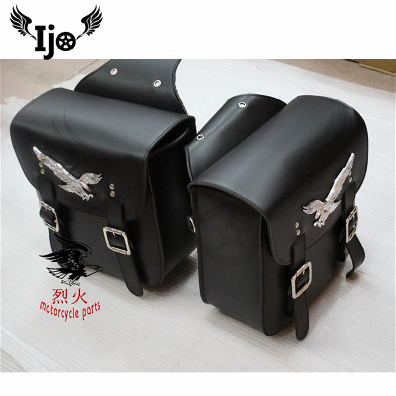 eagle PU leather motorbike tail bag luggage pouch tool bags accessories motorcycle saddle bag for harley prince cruise bags moto