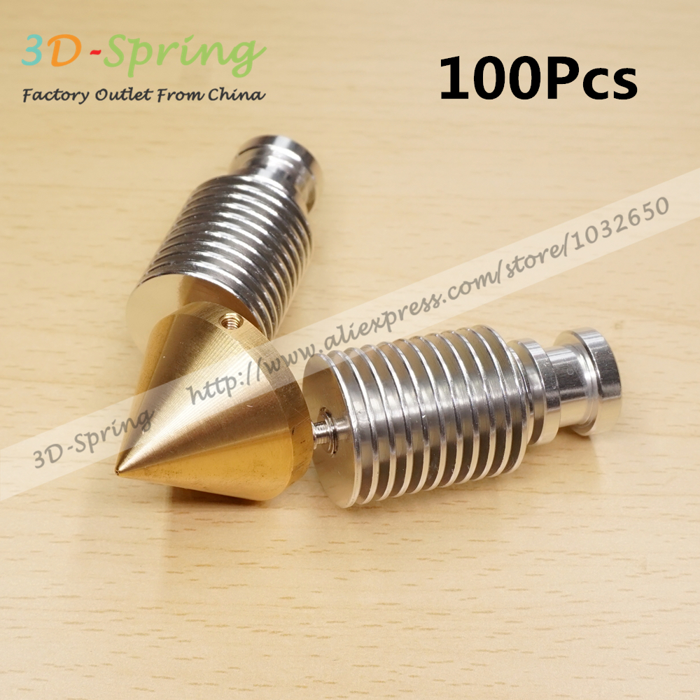 100Pcs Diamond 2 IN 1 OUT Multi Nozzle 3D Printer Extruder Reprap Hotend 3D V6 heatsink Extruder Prusa I3 kit for 1.75/0.4mm geeetech cyclops 2 in 1 out hotend multi extrusion ecosystem colors bowden extruder 0 4mm nozzle for 1 75mm filament