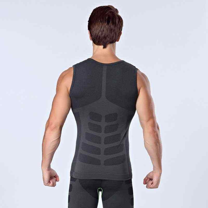 Men Workout Pro Gymming Shaper Top Vest Sporting Runs Yogaing Compress Body Fitness Beach Exercise T-shirts Tank T Shirts VA16