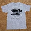 Ser Un Programador de Computadoras T Shirt Hombres Impreso Personalizado Regalo de San Valentín de La Familia de Manga Corta Camisetas