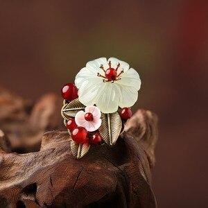 Женское Винтажное кольцо ручной работы, в стиле ретро, в европейском и американском стиле, с цветами
