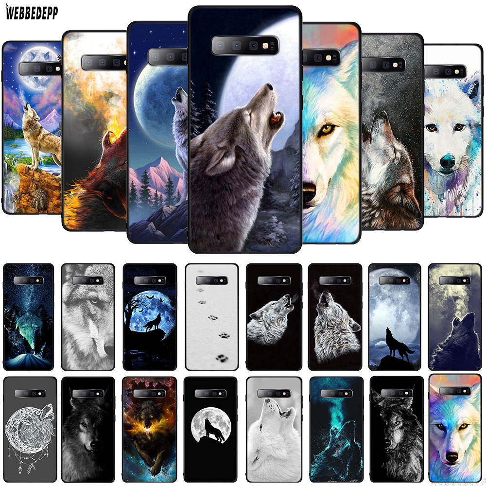 WEBBEDEPP white wolf art Bozkurt Nefesi TPU Cover for Samsung Galaxy A10 A30 A40 A50 A70 A6 A8 A9 J6 2018 Note 8 9 Soft Case image