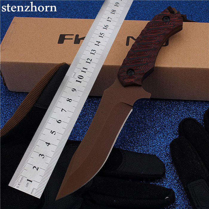 Stenzhorn New Rushed Hi-q Fruit Outdoor Camping With Straight Self-defense Wilderness Survival Mountain High Hardness Red Knife  цены