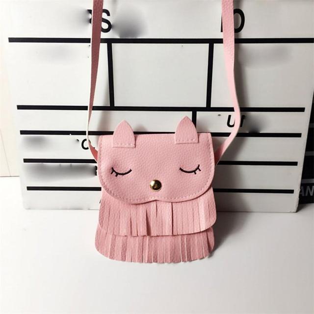xiniu Kids cat purse wallets for children Cute pattern tassel Bags Shoulder Bag Cute monederos para mujer