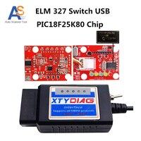 PIC18F25K80 Chip Araba Tanı Aracı Ile V1.5 ELM327 USB Anahtarı Için Ford HS CAN/MS CAN Otomotiv Tarayıcı ELM 327 Kod Okuyucu