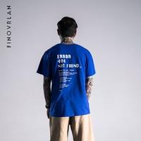 2018 Новые поступления бренд уличной Футболка одежда 404 код ошибки с принтом синий/черный в стиле хип-хоп футболка Летняя хлопковая Футболка Д...