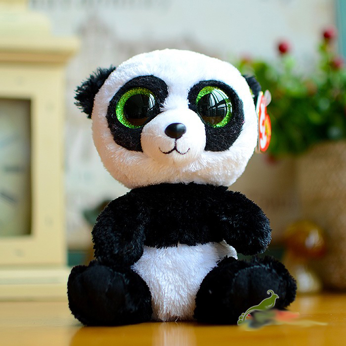 Ty Beanie Boos Big eyes Cute Girls Plush Toys Colorful Small Panda Kids Toy  Doll Lovely Children s Gifts Kawaii Stuffed Animals-in Stuffed   Plush  Animals ... e0e76d639d7