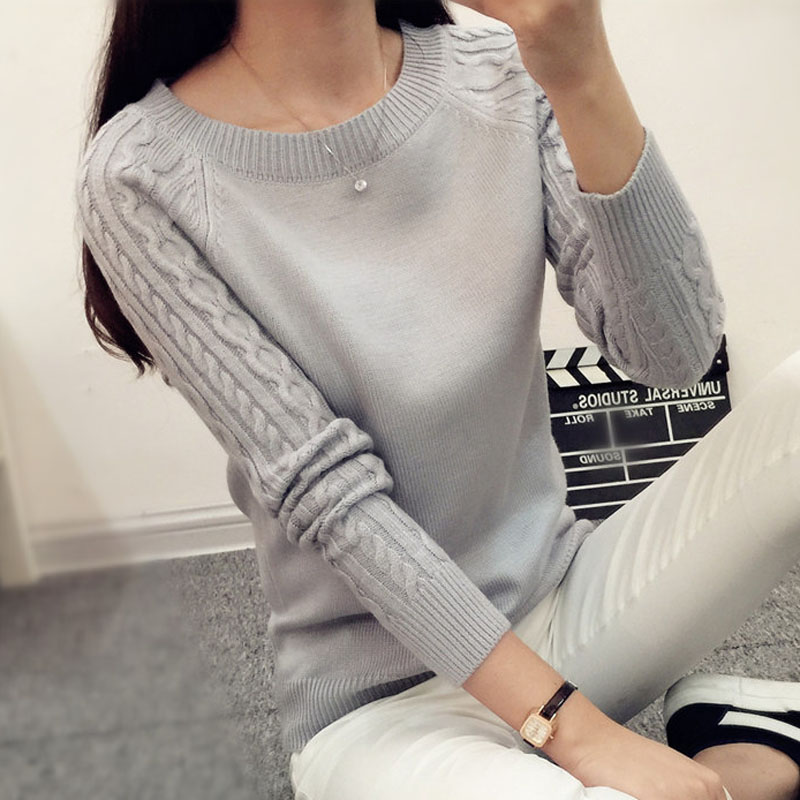 Women pullover sweater short design 2018 autumn and winter female slim sweater teenage girl knitted shirt fashion