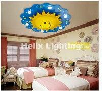Free Shipping Children Ceiling lamps Kids Bedroom light Cartoon Sun Design Ceiling Light LED Light Source Remote Controller