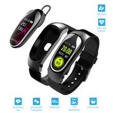 цены на Smart Wristband Bluetooth Headset Answer Call Passometer Heart Rate Fitness Bracelet Smart Band Earphone For Android IOS Watch  в интернет-магазинах