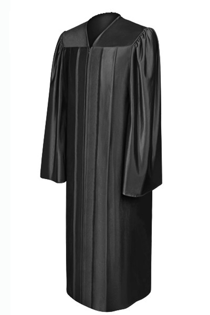 Shiny Graduation Gown Academic Dress For College Graduation, 12 Colors Are Available, Universtity Graduation Dress