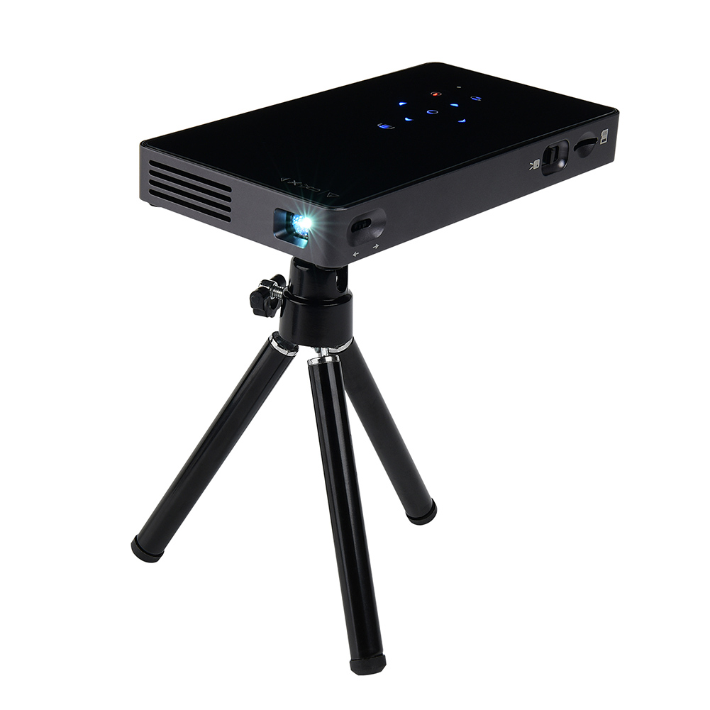 P8I DLP WiFi Bluetooth Projector LED Video Projectors 1080P HDMI for Android Movie Business Home Theater XX SL@88 ...