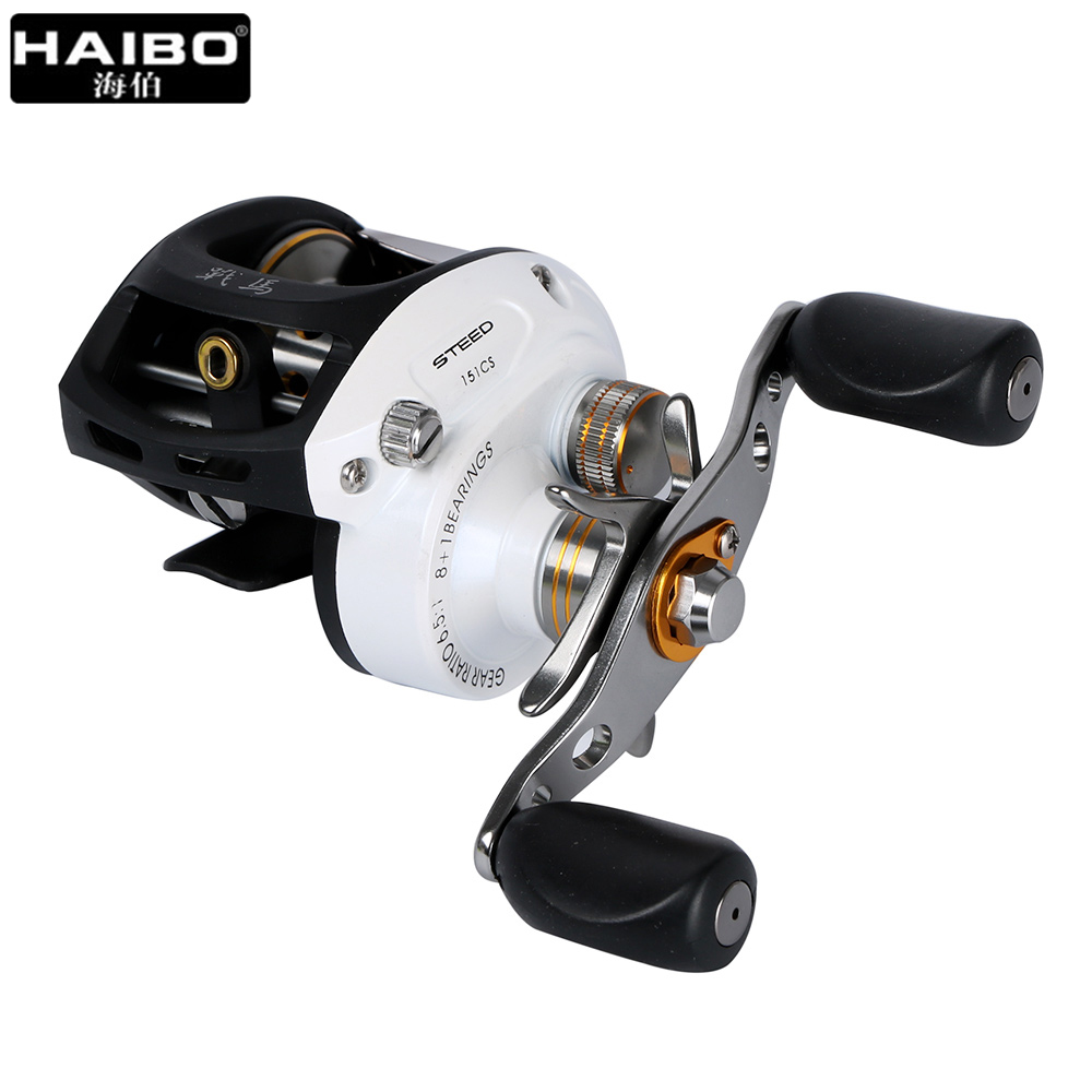 Haibo STEED Baitcasting Reel 8+1 BB Fishing Reel Left/right hand All metal Centrifugal Bait casting Fishing Wheel 12 1bb 6 3 1 left right hand casting fishing reel cnc fishing reels carp bait baitcasting carretilha de pesca molinete shimano