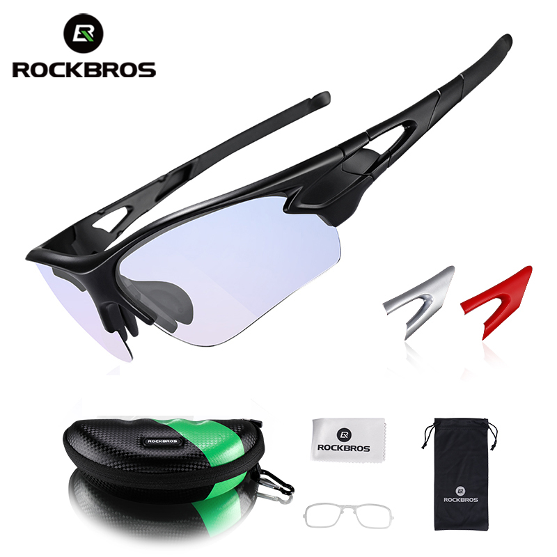 ROCKBROS Cycling Glasses Anti-fog Bike Glasses Outdoor Sports MTB Bicycle Sunglasses Goggles Eyewear Myopia Frame Bike Equipment rimless sunglasses ultra light crystal diamond glasses myopia sunglasses women can be customized bright reflective polarizer