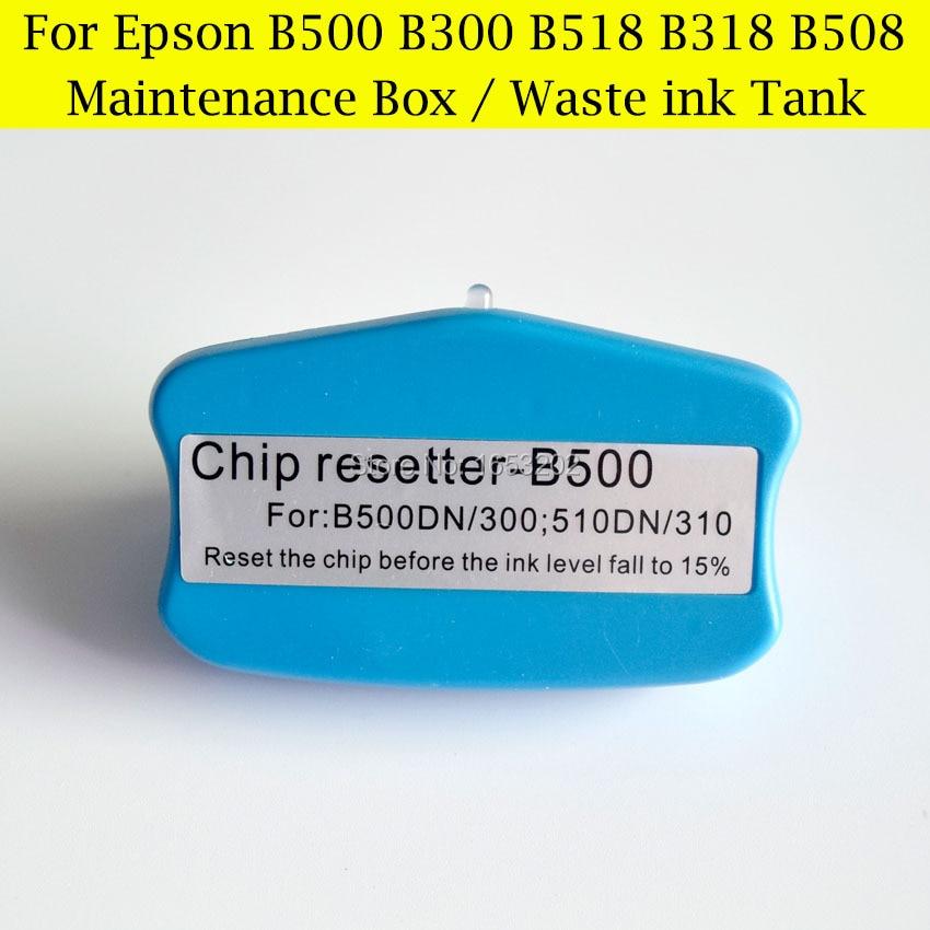 Cartridge Chip Resetter,Waste Ink BOX Resetter For Epson B310N/500/300/510DN Printer Maintenance Tank chip resetter for ricoh sg2010l sg2100 sg2100l sg3100 sg3110dn sg3120sf sg7100 printer cartridge and maintenance tank chip