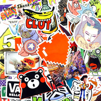 5000 pz Stickers Mix Style Divertente Decalcomania Del Fumetto Del Frigorifero di Doodle Snowboard Bagaglio Decor Jdm Auto di Marca Bike Giocattoli DHL/UPS/SHUNFENG