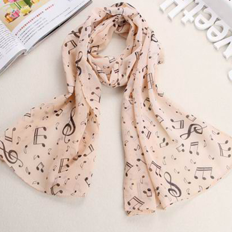 2015 new 160 50cm new fashion style music note scarves women 39 s scarf long shawl spring silk. Black Bedroom Furniture Sets. Home Design Ideas