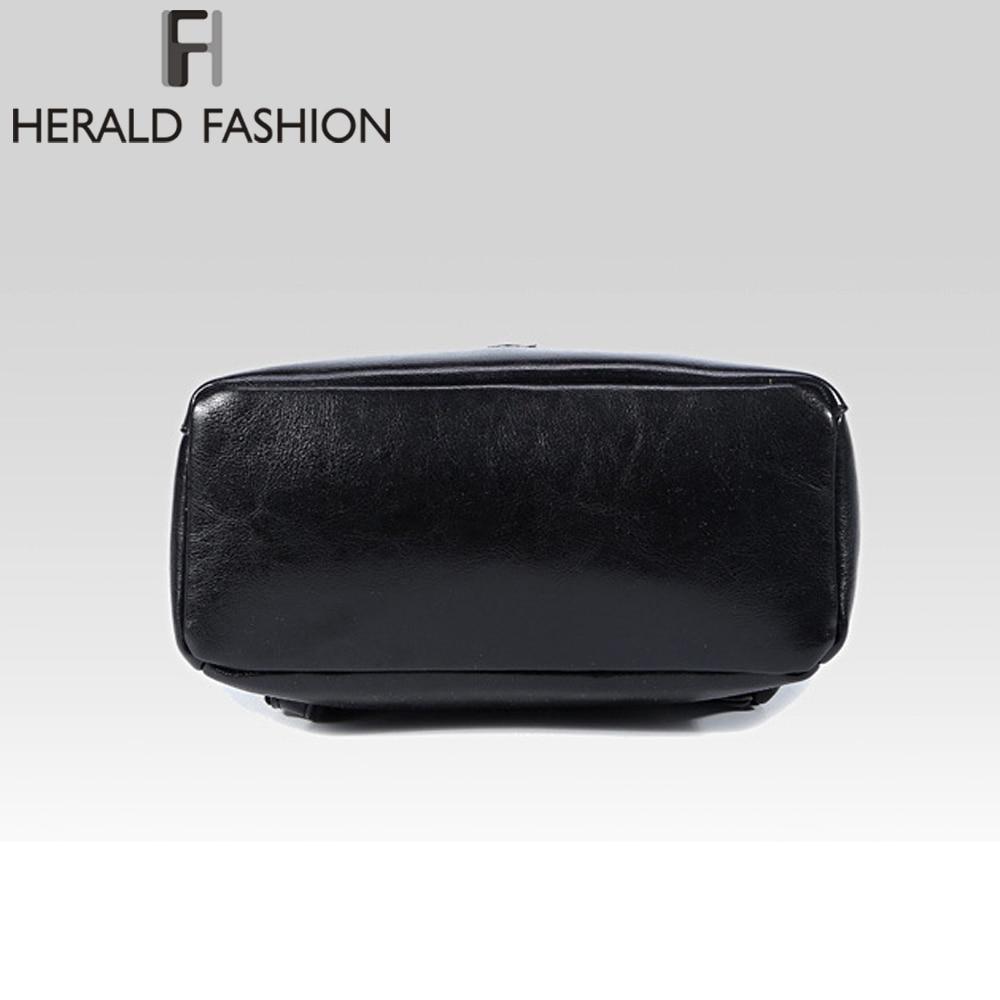 Herald Fashion Genuine Leather Backpack Vintage Cow Split Leather Women Backpack Ladies Shoulder Bag School Bag For Teenage Girl #5