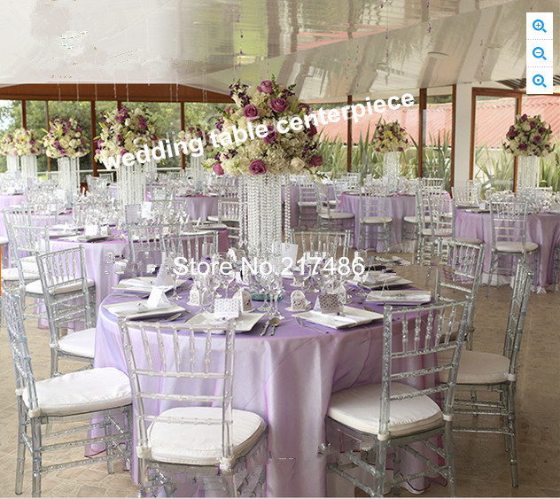 Trumpet Acrylic Vase For Party Eventscrystal Plastics Flower Vases