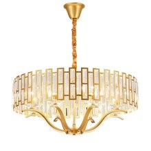 הפוסטמודרנית LED יוקרה K9 קריסטל נברשת תאורת סלון זהב תליית אורות נורדי חדר שינה תליון מנורת אוכל גופי