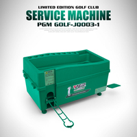 PGM Multifunctional Golf Ball Automatic Server Pitching Machine Robot Swing Trainer Hold 60 100 Balls And 9 Golf Rods Pole Frame
