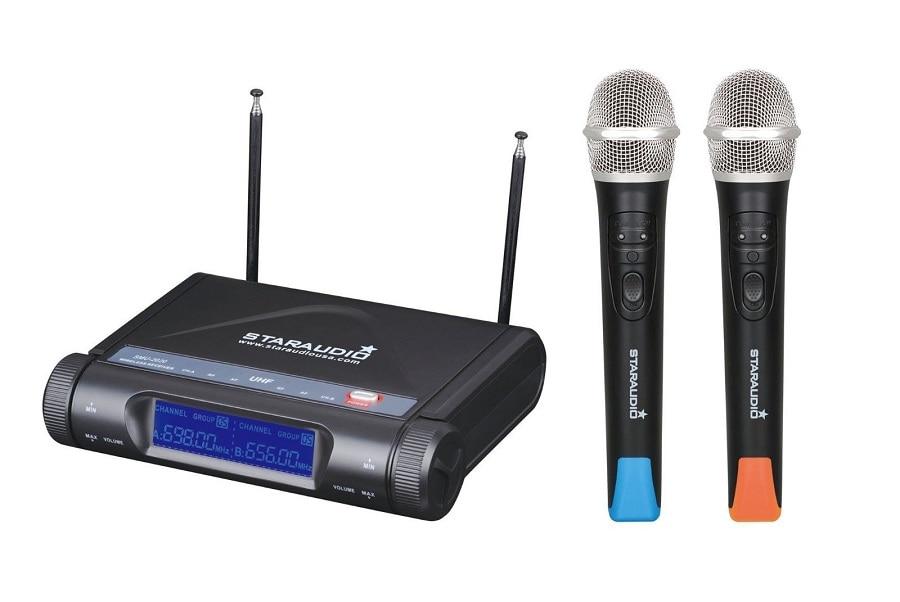 STARAUDIO SMU-2020A 2CH UHF Wireless Pro Church Club DJ Dual Handheld Microphones System Mic staraudio uhf professional wireless pro 2channel dual dj handheld microphones system mic smu 2020a