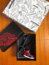 100% authentic 60885 dd8c2 AIR JORDAN 1 Banned AJ1 Forbidden Cherry Blossom Road 3D Sneaker Model  Lovers Keychain(China