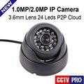 Сеть HD CCTV Камеры H.264 Купольная Ip-камера 720 P 1080 P Securiy 2.0MP Крытый 1.0MP Onvif 2.0 P2P Облако iPhone Android Посмотреть