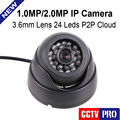 Rede HD Câmera de CCTV H.264 Mini Dome IP Camera 720 P 1080 P securiy 2.0mp indoor 1.0mp onvif 2.0 p2p nuvem iphone ver android