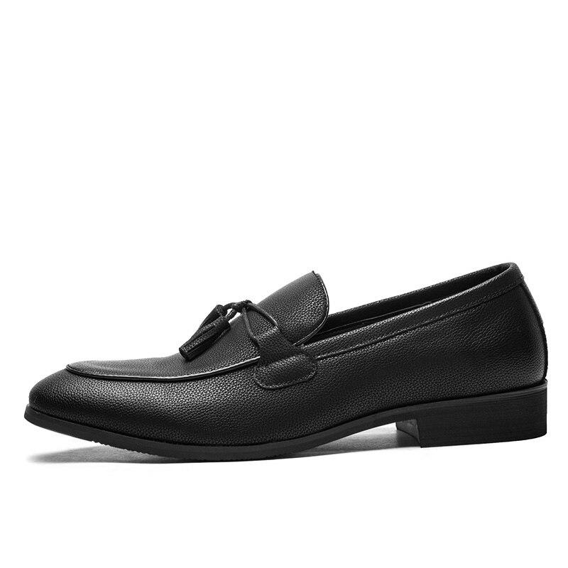 Mens Slip Gland Spéciale Hommes Solide 2019 Mocassins Zéro Offre Chaussures Sur Mode Plus Pointu Casual Noir Bout 5fOOqngA