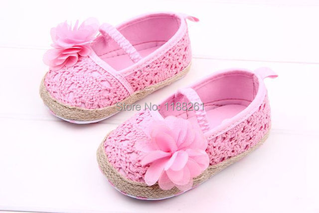 Baby Shoes Sneaker For Girl Breathable White Pink Summer Cotton Rose