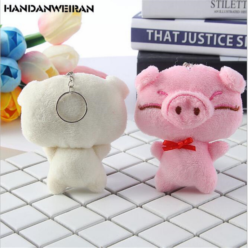 2022 NEW 1PCS Cartoon Animal Stuffed Soft Toy New Year Pig Gift Cute Piggy Plush Toy Hanging Pendant  For Children 10CM 2 Colour
