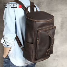 AETOO Leather Large capacity shoulder Baotou layer cowhide Vintage backpack handmade hundred travel bag