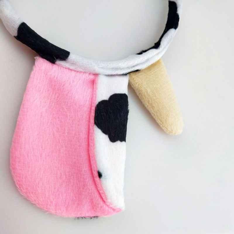 3 Pcs/set Cow Animal Headwear Set Kids Girls Boys Headbands Bow Tie Halloween Children Day Dress Up Decoration Headband Gifts