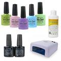 Arte Clavo Nail Manicure Set (ChooseAny 5 Colors+Base Top Coat + Cleanser +36W UV Lamp) UV Led Lamp Gel Nail Soak Off Gel Polish