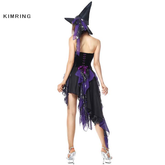 163ccf667a placeholder Kimring Gothic Witch Halloween Sexy Costume Masquerade Magic  Moment Cosplay Women Purple Adult Witch Victorian Fancy