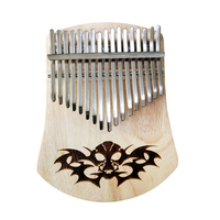 BATESMUSIC 17 Key Kalimba African Thumb Piano Finger Percussion Keyboard Music Instruments Kids Thailand Oak