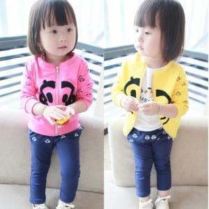 clothing female child spring autumn cotton casual set
