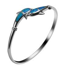 Blue Fire Opal 925 Sterling Silver Fashion Beautiful Jewelry Bracelet P328