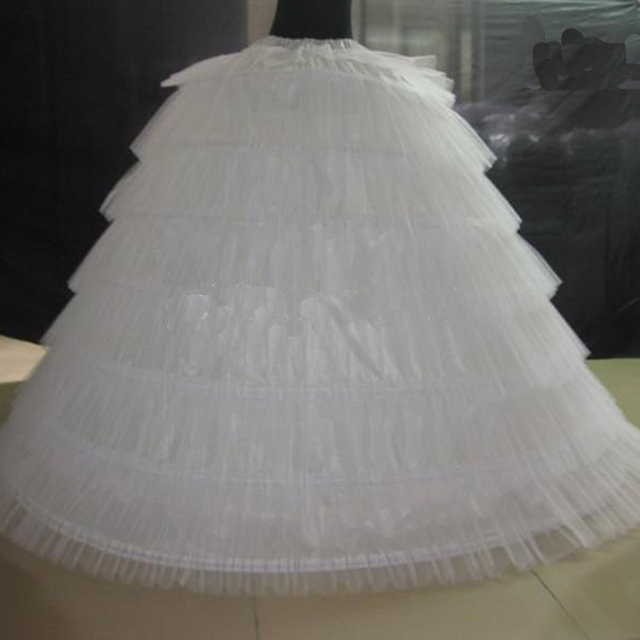2016 High Quality Ball Gown Puffy Tulle Bustle Senven Hoops Wedding Rockabilly Petticoats Plus Size