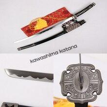 Handmade Samurai Sword Katana Full Tang Sharp Edge Carbon Steel Black Scabbard